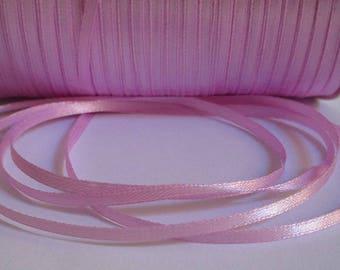 10 m 3mm lilac satin ribbon