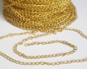 1 meter of gold metal chain link 5mm