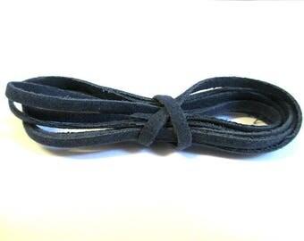 3 x 1 woolen dark blue color suede cord