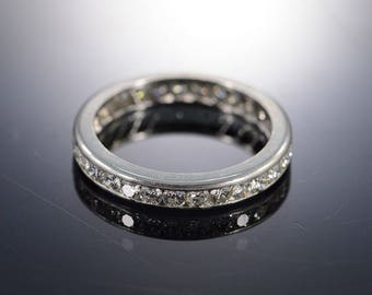 1.00 Ctw Round H/SI Infinity Eternity Wedding Band Ring Platinum