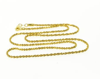 """14k 1.8mm Rolling Pinwheel Link Chain Necklace Gold 18"""""""