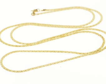 """14k 1.8mm Fancy Pressed Link Chain Necklace Gold 30.25"""""""