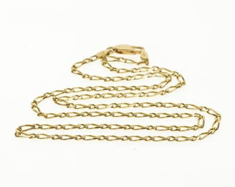 """14k 2.5mm Figaro Chain Fancy Link Necklace Gold 20.5"""""""