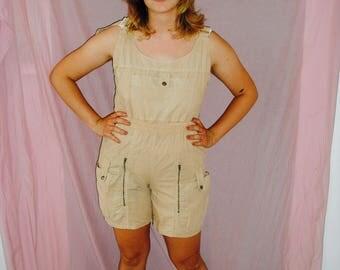 Unique Safari Shorts Overalls Size S