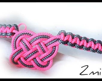 Front rope fluo pink and silver