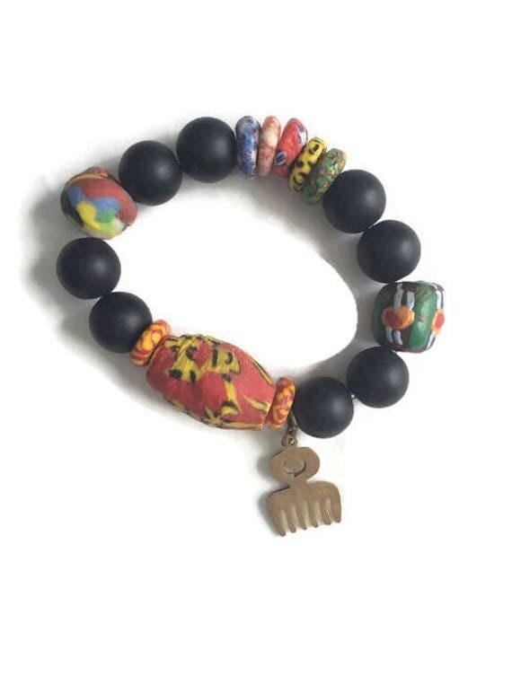 African Ghana Krobo Beads Teen  Bracelets