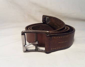 Vintage 1954's Swiss Army Soldier Leather Belt