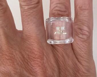 Courrèges vintage plexi Courrèges vintage plexiglass ring ring