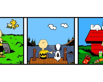 SIGNED charlie brown print