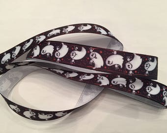 "Ghosts 5/8"" Grosgrain Ribbon"