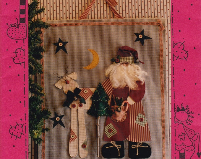 Craft Sewing Pattern Free Us Ship Uncut Friends 733 Under the Stars Quilt Santa Claus Reindeer Christmas  1993 Sherry Connors