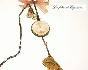 Great necklace CABOCHON • anchor BATEAU•