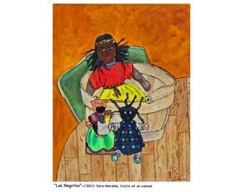 "Puerto Rican Art - Poster - ""Las Negritas"""