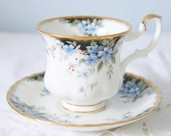 Hard to Find Vintage Royal Albert Bone China 'Royal Choice' Series' 'Windsor' Cup and Saucer, Lady Size