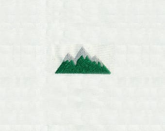 "0.79""T Tiny Mountain with Snow Top Peaks Embroidery Design - Instant Digital Download"