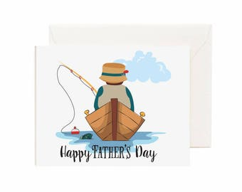 "Fishing ""Happy Father's Day"" Greeting Card"