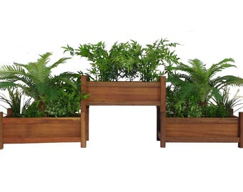 Vertical Planter Boxes - Wood - Planter Boxes - Raised Garden