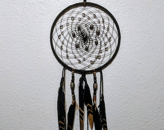 Black and gold 8 inch dreamcatcher