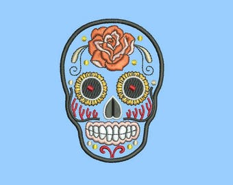 file skull embroidered mail