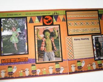 Halloween Scrapbook Pages - Premade Halloween Scrapbook Pages - Halloween Layout - Halloween Pages - Halloween Scrapbook Layouts - Halloween