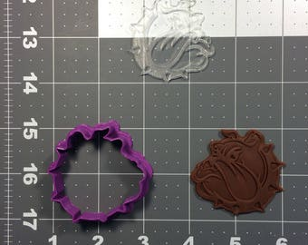 Bulldog 101 Cookie Cutter and Stamp (Embossed)
