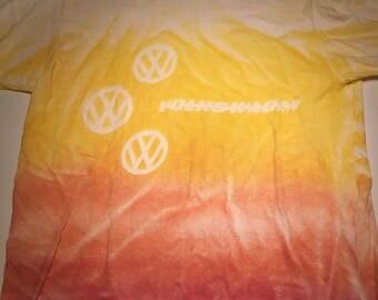 Super Rare 80s Vintage Volkswagen VW Tie Dyed T Shirt