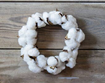 Candle Ring~Cotton wreath~cotton boll candle ring~rustic cotton~farmhouse wreath~wedding wreath~cotton decor~wreath~rustic decor
