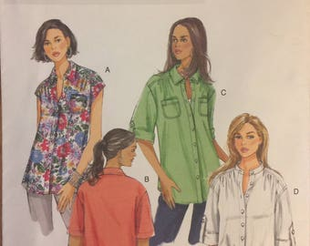 OOP 5611 Butterick (2011).  Misses' shirt.  Size 10-12-14-16-18.  Complete, unused, FF. Excellent condition.