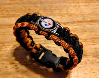 Pittsburgh Steelers Inspired Paracord Bracelet