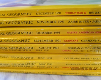 National Geographic 1991 10 Issues
