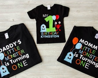 Daddy, Mommy, Sister, and Child Birthday shirts