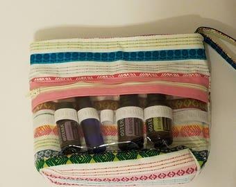 Essential Oil Bag; Make up Bag, Essential Oil Travel Bag - Multi color stripe