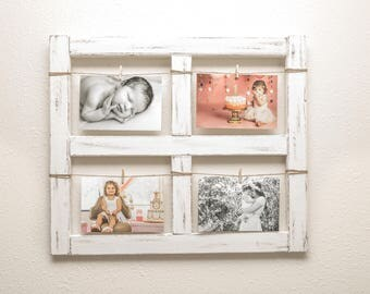 Window Frame - Old Window - Rustic Home Decor - Picture Frame - Window - Wood Wall Art - Wood Frame - Farmhouse Decor - 4x6 Picture Frame