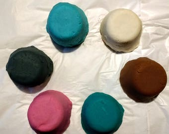 Set of 6 Secondary Colors and Scents / Custom-Made Scented Playdough