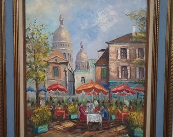 French Cafe Oil Painting
