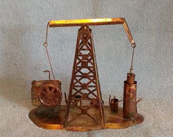 Music Box - Oil Well Theme - Oil Derrick - Animated - Deep In The Heart of Texas