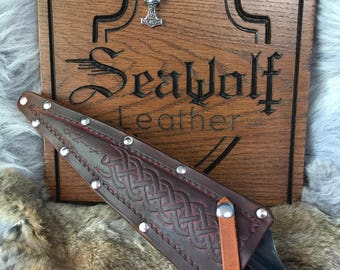 Leather spear head cover