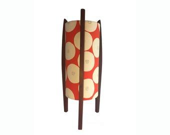 Mid-century inspired Rocket lamp with Japanese designer fabric
