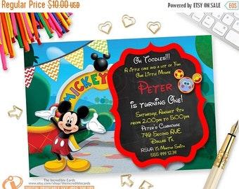 ON SALE Mickey Invitation, Mickey Mouse Birthday Invitation, Mickey Mouse Clubhouse Invitation, Mickey Printable Invitation, Toodles, ANY Ag