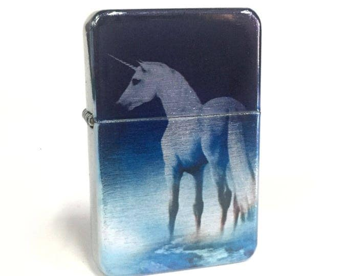 Lighter, Unicorn, Sublimated Lighter, retro lighter, Fantasy, Flip Lighter, Gift for Him, Groomsmen, Bachelors, Groom, Fathers Day