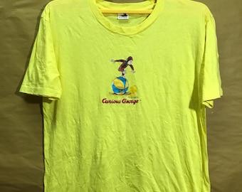 "Vintage CURIOUS GEORGE T-shirt Adult Large Size 21"""
