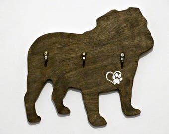Bulldog Lead Holder,pet gifts, Bulldog gifts, Bulldog British, Bulldog Christmas, Lead Storage
