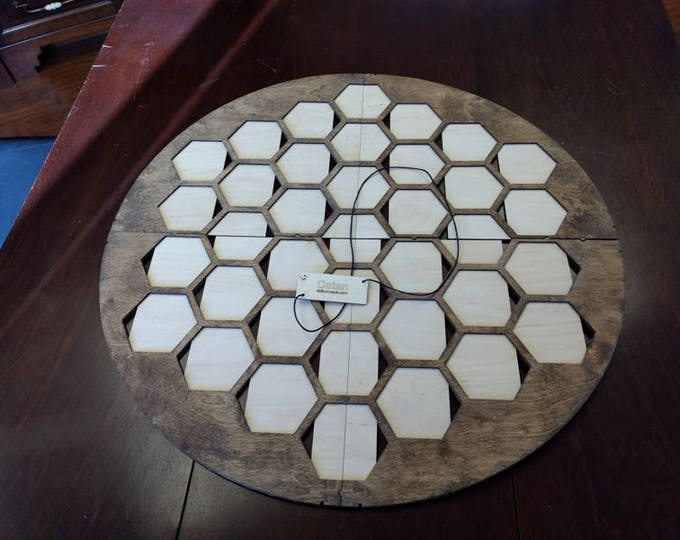 Walnut Stained Catan 37 Tile Board for 4 player Seafarers
