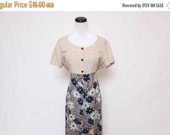 30% OFF Vtg 90s Grunge Maxi Floral Button Down Rocker Dress M/L