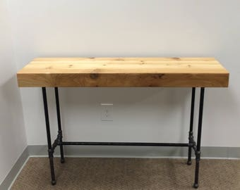 Cedar Plank Industrial Parsons Table