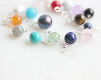 Add On Gemstone - Add a Gemstone - Add a Birthstone -Add a charm -Birthstone dangle - Add Ons - Add a dangle