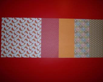 "set of 5 paper origami patterns ""japan"""