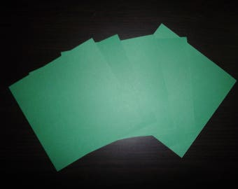 set of 5 paper origami Green 15 x 15 cm