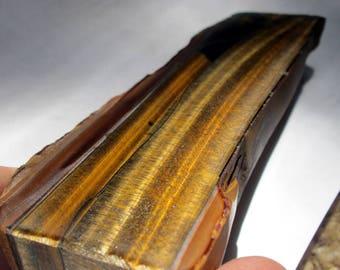 Tiger Iron Banded Iron Tiger's eye Tiger eye Slab Chunk Cut and Polished Beautiful! chatoyant gemstone