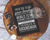 Will You Be My Groomsman Cards , 5x7 BROSHIP